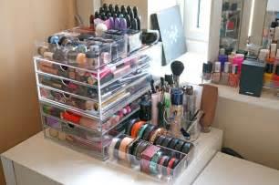 Micke Desk Review New Massive Acrylic Makeup Storage Review Thou Shalt