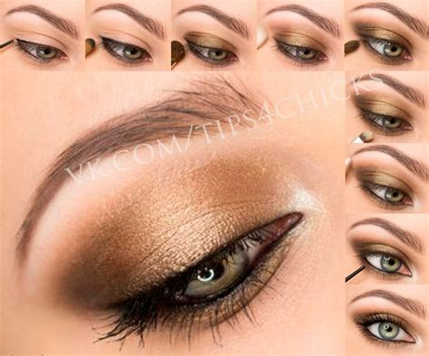 Eyeshadow Gold Tutorial bronze gold brown eye makeup adore these colours