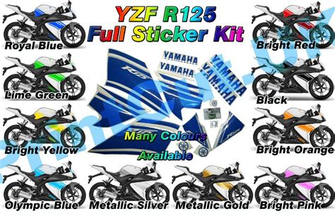 Yamaha Sticker Pack by Yzf R125 Full Rep Decal Sticker Pack Yzfr125 2009 Only
