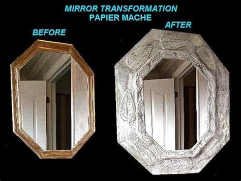 Paper Mache Photo Frame Crafts - papier mache mirror frame transformation home diy