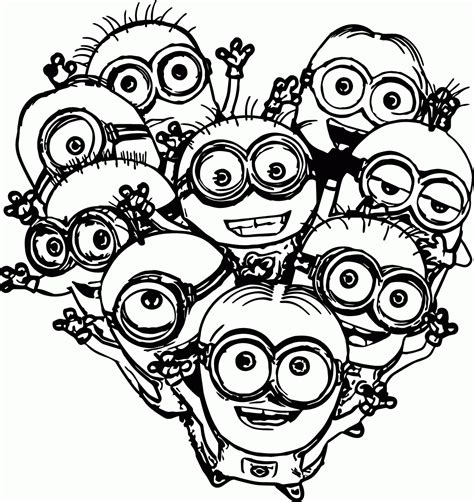 minion coloring page clipart minions coloring pages childrens film free minion clipart