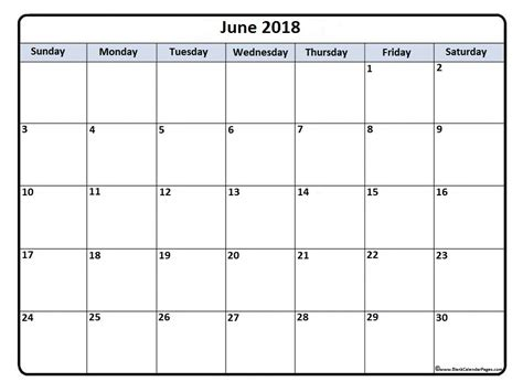 printable calendar pages 2018 june 2018 calendar 50 templates of printable calendars