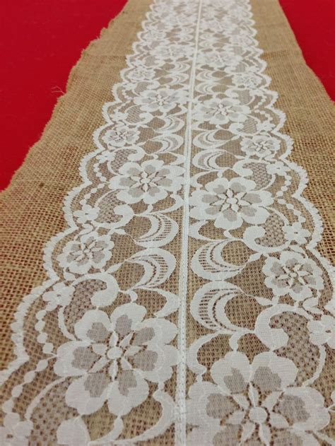 Burlap Table Runner With Lace by Vintage Antique Lace Lace Table Runner Burlap