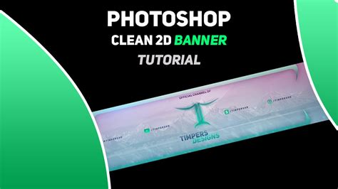 photoshop clean lineart tutorial photoshop clean 2d banner tutorial youtube