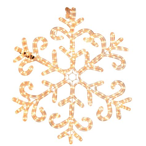 christmas mains voltage clear rope light snowflake indoor