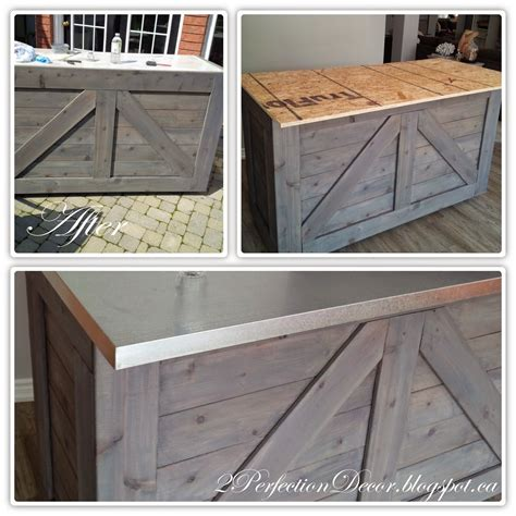 how to build a bar top counter remodelaholic ikea hack rustic bar with galvanized metal top