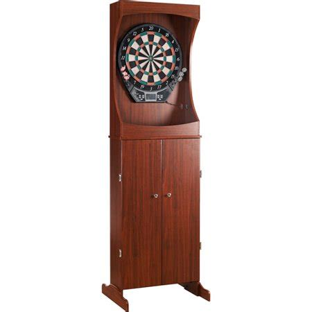 Electronic Dart Board Cabinet Set by Hathaway Outlaw Free Standing Electronic Dartboard And