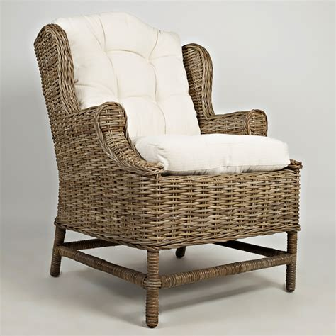 Rattan Accent Chair Jofran Beachcomber Kubu Rattan Accent Chair Accent Chairs At Hayneedle