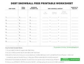 worksheet debt snowball worksheet ewandoo free