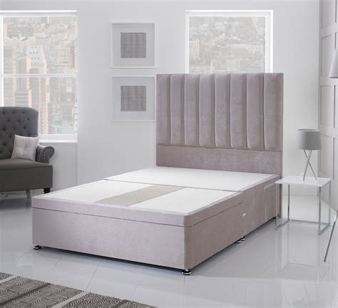 4ft small double bed giltedge beds 4ft small double divan base velvet fabric