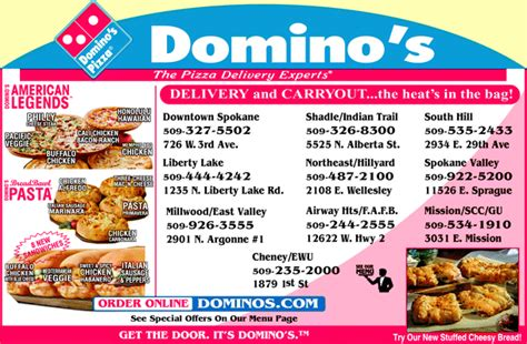 domino pizza delivery number domino s number
