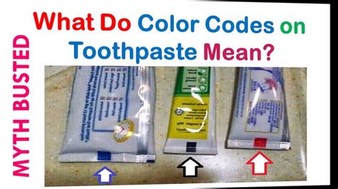 what do the colors on toothpaste color tabs on bottom of toothpaste irfandiawhite co
