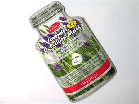 Rs Collagen purederm lavender collagen mask review and cosmetics