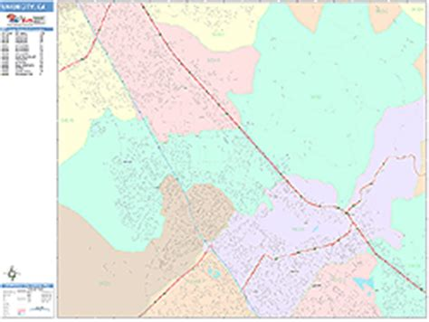 zip code map union city ca union city california wall map color cast style by