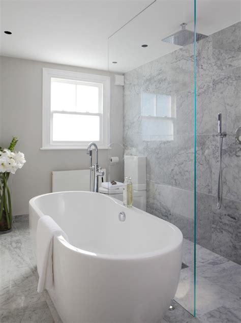 Open Shower Ideas Modern Bathroom Laura Hammett Open Shower Bathroom