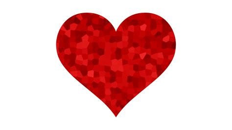 heart pattern with keyboard symbols a beating red heart symbol with crystallized pattern 4