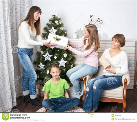 family celebrates with new years family celebrate new year 2017 at stock photo