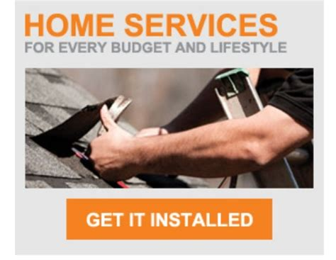 home depot home services installation