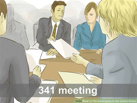 section 341 meeting 5 ways to file bankruptcy in the united states wikihow