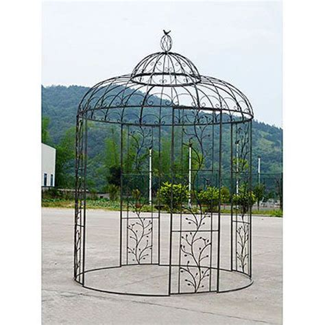 wrought iron gazebo wrought iron gazebo d87 quot x133 quot d36430 the garden