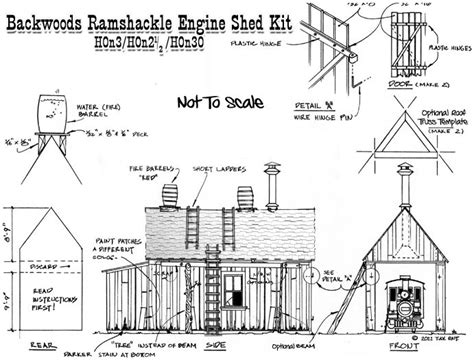 railroad house plans o scale building template backwoods ramshackle engine