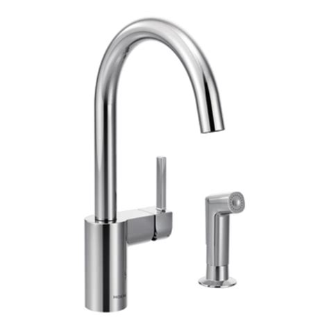 moen one touch kitchen faucet moen 7165 align one handle high arc kitchen faucet chrome