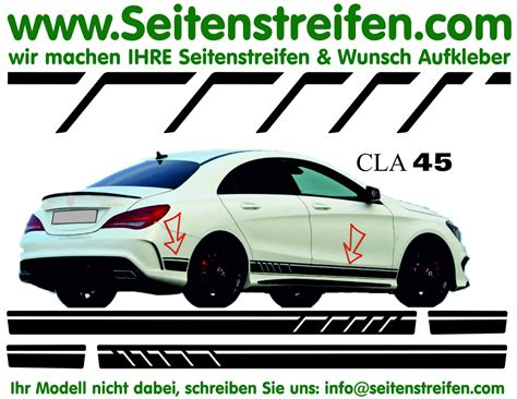 Decal Striping Sticker Klx 041 Glossy mercedes 45 amg replica sticker decal side