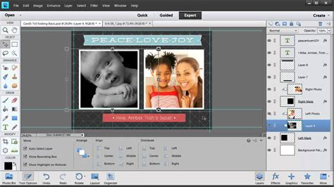 Card Templates Photoshop Elements by Editing Templates In Photoshop Elements