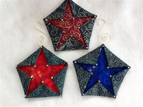 Patchwork Decorations To Make - 17 best images about folded fabric ornaments on