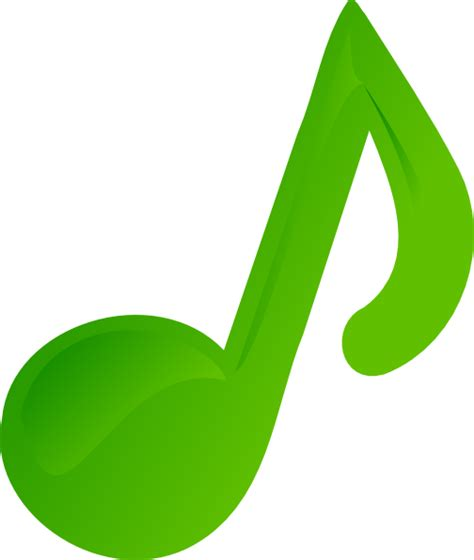 Clipart Of Musical Notes green note clip at clker vector clip royalty free domain