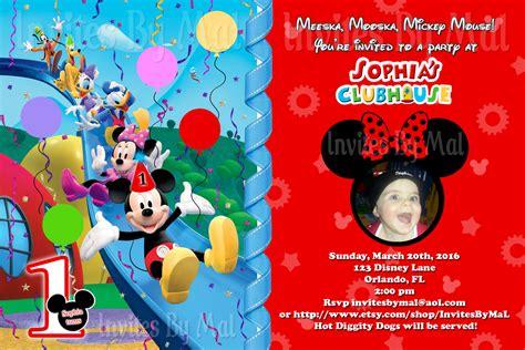 mickey mouse clubhouse custom birthday cute mickey mouse clubhouse