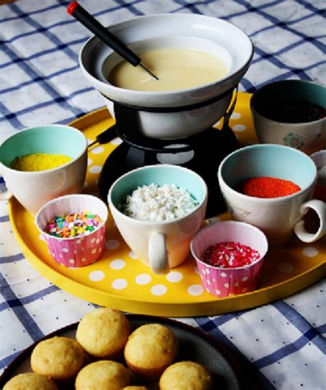 cupcake fondue celebrations at home