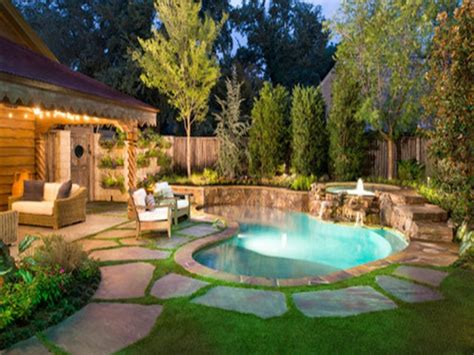 Pool Designs For Small Backyards Patio Yards Yard Ideas Small Backyard Pool Landscaping Ideas