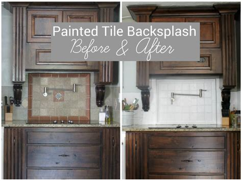 painted kitchen backsplash ideas i painted our kitchen tile backsplash the wicker house