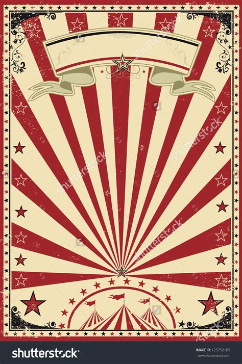 Plakat Retro by Circus Vintage A Circus Vintage Poster For Your Show