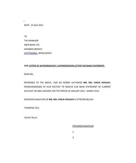 authorization letter template for joint account authorization letter template for joint best free