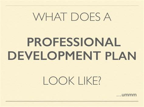 untangling the professional development plan a how to