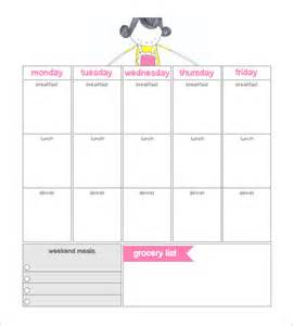 dinner calendar template search results for meal schedule weekly free page 2