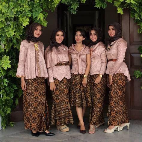 Baju Pesta Brukat Satin Velvet inpirasi kebaya modern atasan blouse velvet rok batik