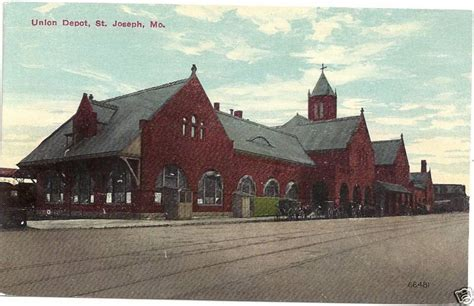 st joseph mo union railroad depot station p c ebay