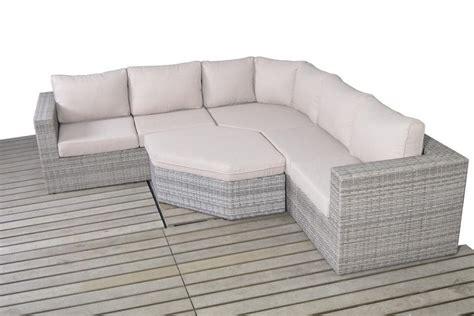 sofa angle rustic grey rattan angle corner sofa set homegenies