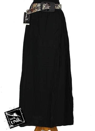 Rok Span Panjang Polos 1 rok batik panjang katun polos bonus ikat pinggang bawahan rok murah batikunik