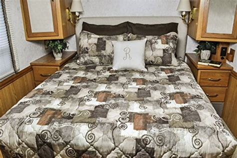 travel trailer bedding cer king rv bedspread 3 pc set cer rv travel