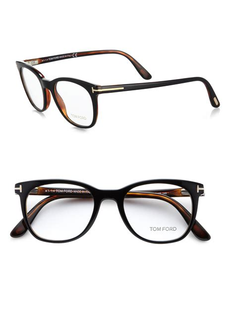 tom ford 5310 rounded optical frames in black for lyst