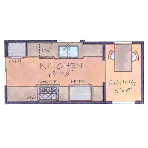 Galley Kitchen Floor Plans Home Design Living Room January 2014