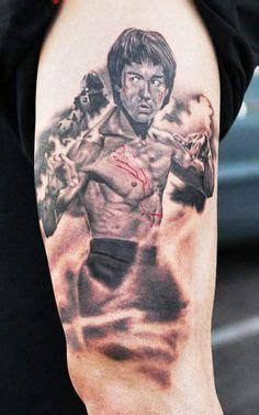 bruce lee tattoo bruce by steve butcher color