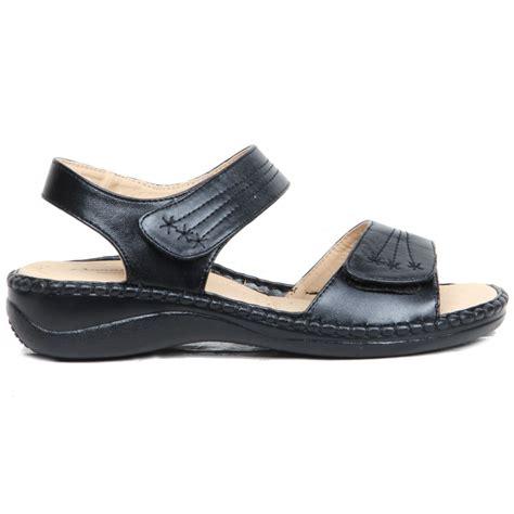 womens comfortable wedges womens wedge heel hook loop strap comfortable padded