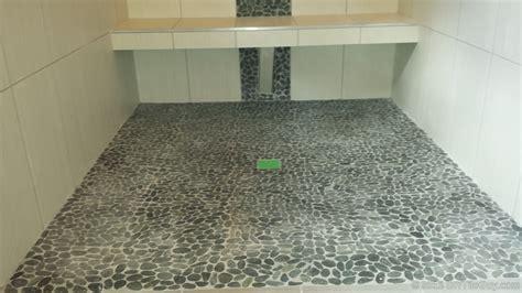 Miserable Pebble Tile Flooring Diytileguy Painting Over Bathroom Tiles