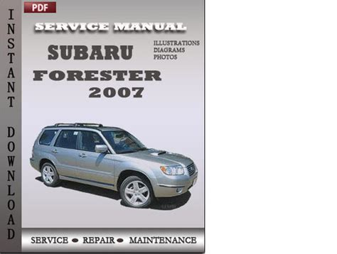 car service manuals pdf 1986 subaru xt instrument cluster subaru forester 2007 factory service repair manual download downl