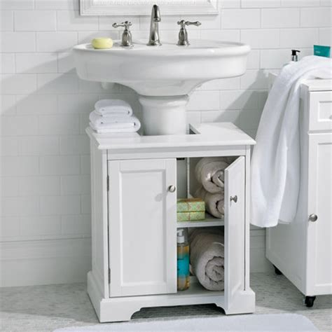 Bathroom Cabinets Sink Storage Weatherby Bathroom Pedestal Sink Storage Cabinet